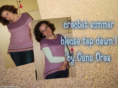 Crochet summer blouse top down I