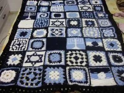 Crocheted Granny Square Blanket - Israeli Afghan