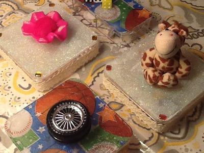 DIY Acrylic boxes craft- اشغال يدوية زينة لغرف الاطفال