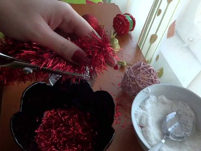 DIY. Christmas Decorations With Glasses