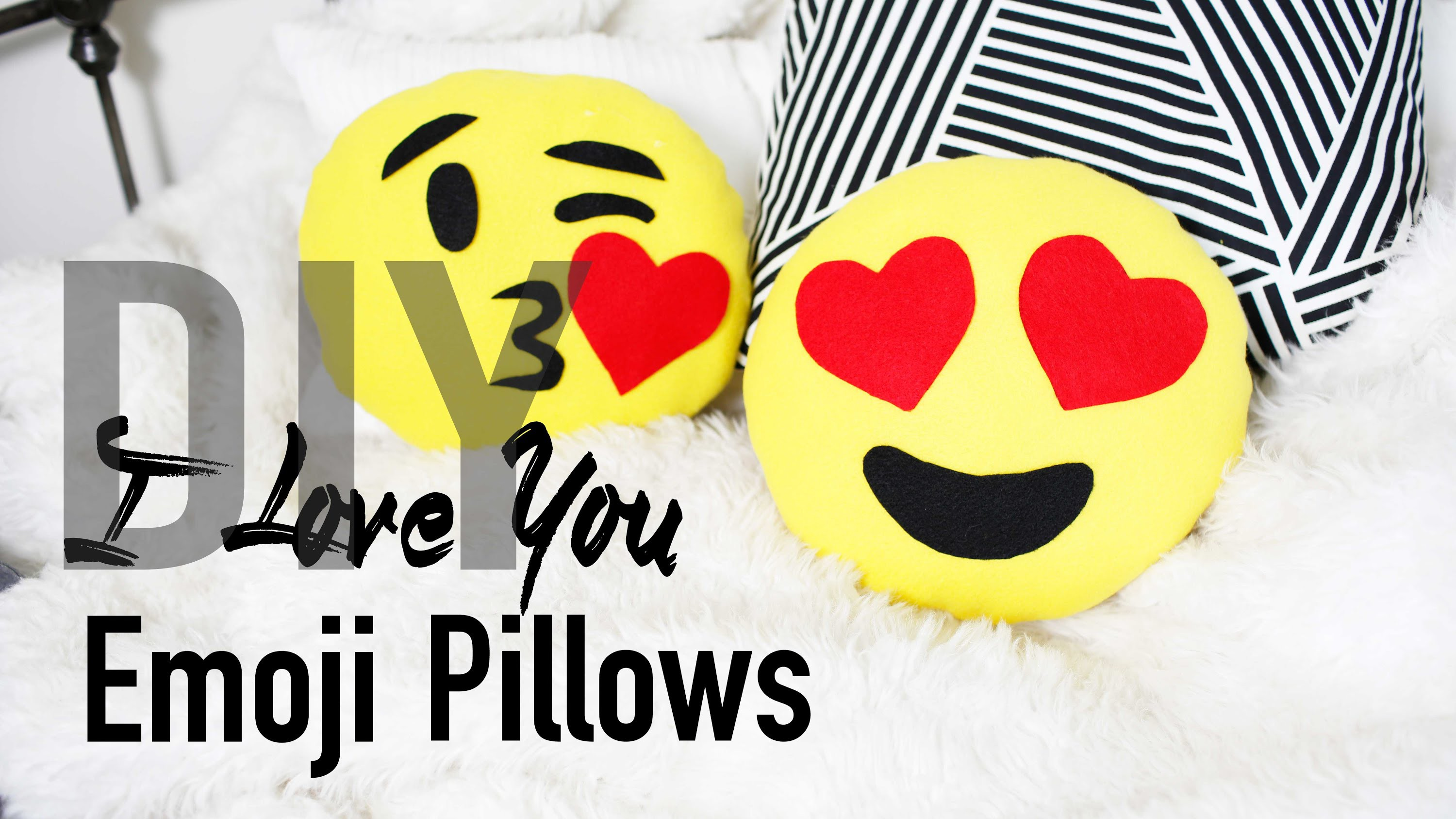 DIY Cute & Easy Heart Emoji Pillows | ANNEORSHINE