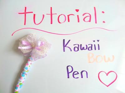 ♡ DIY: Cute Kawaii Bow Pen Tutorial ♡ | BerryWhimsy