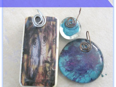 DIY Handmade Jewerly Bails. How to Make Glue on Bails Tutorial : Wire Wrapped Bail for Pendants