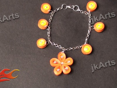 DIY How to make Paper Quilling Bracelet -  JK Arts 366