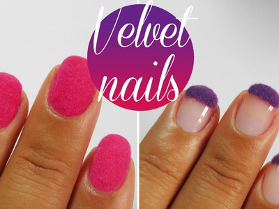 DIY How to: Velvet Flock texture nail art tutorial
