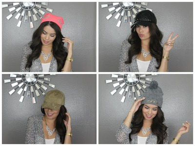 DIY Jeweled Beanies and Hats