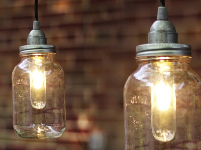 DIY MASON JAR LIGHT. LANTERN
