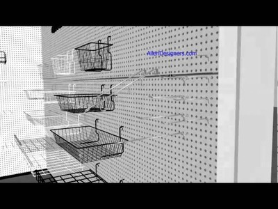 DIY Pegboard Hooks and Baskets