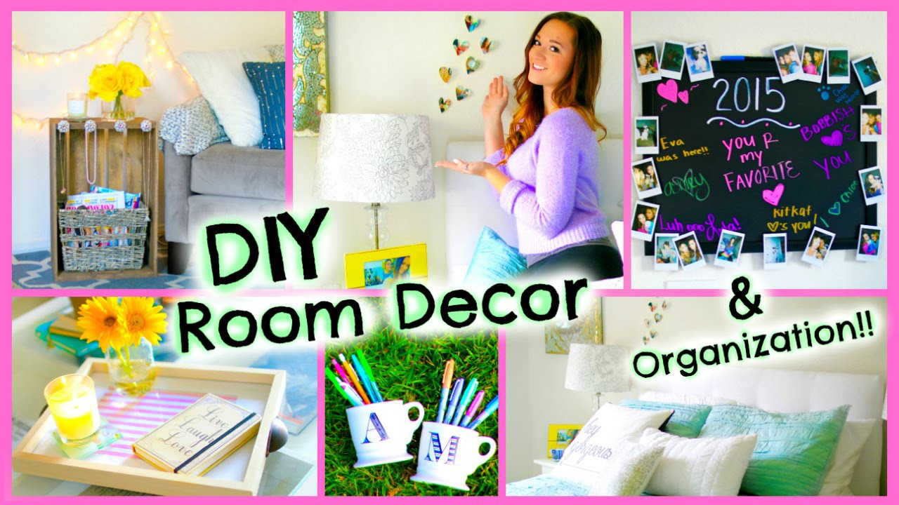 DIY Room Decor 2015 ♡ Organization + Decorations for Your Room!!