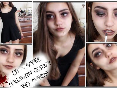 DIY Vampire Halloween Costume & Makeup!