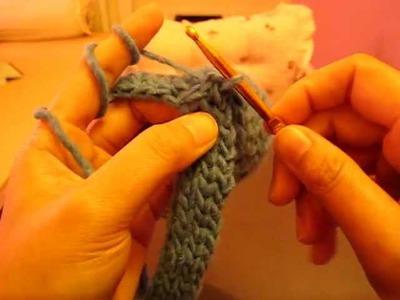 การถักสายหิ้วกาแฟด้วย Tunisian Crochet