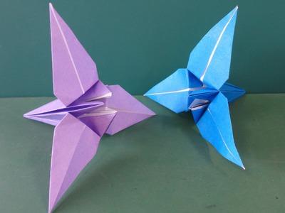 """花「あやめ」折り紙Flower""""Japanese iris""""Origami"""