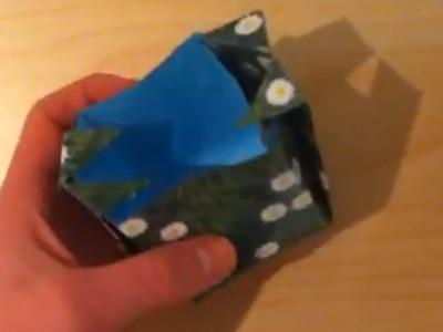 Faire un vase en origami - Pliage pot en papier