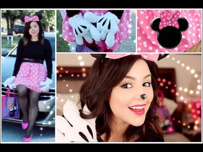 Get Ready with Me: Minnie Mouse Hair, Makeup & DIY Costume! Halloween Edition!