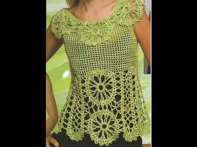 Gráficos para tejer Blusa Calada a Crochet