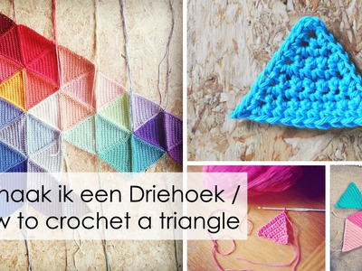 Hoe haak je een Driehoek. How to crochet a simple triangle