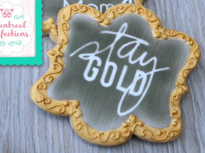 How to - Chalkboard effect decorated cookies