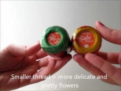 How to crochet a pansy bracelet