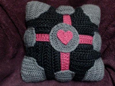 How to Crochet Companion Cube Pillow P1