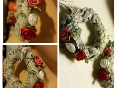 How To - Crochet Denim Earrings