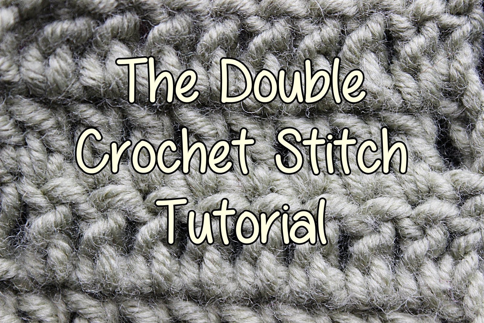 How to crochet the Double Crochet Stitch - Basic Crochet Lessons