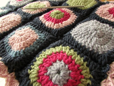 How to join crochet granny squares - slip stitch method