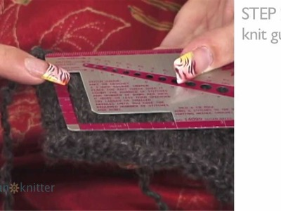 How To Knit Mittens: Part 2 - Knit Stitch Gauge
