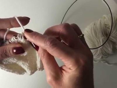How to knit. Вязание спицами. Урок 18-2. Араны. Ромб