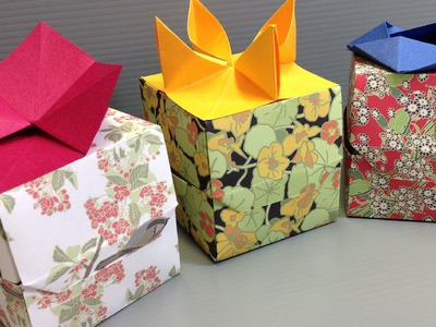 How to Make Beautiful Origami Flower Gift Boxes