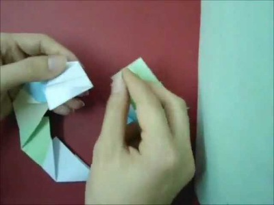 How to make origami candy cane wreath