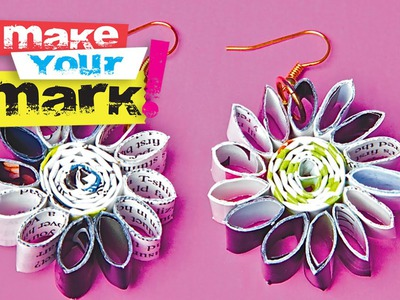 How to make recycled magazine page earrings: Fashion DIY