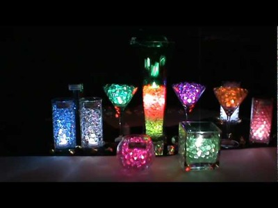LED Submersible Lights & BLYSS® Water Beads