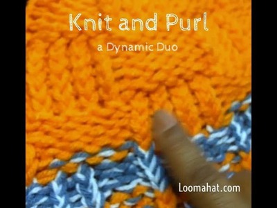 LOOM KNITTING STITCHES Knit and Purl