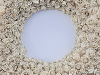 Make a Gorgeous Paper Rose Wreath - DIY Home - Guidecentral