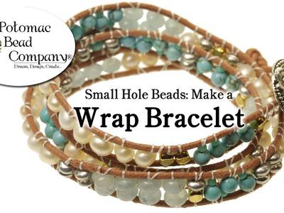 Make a Wrap Bracelet with Small Hole Beads (Chan Luu Style)