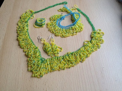 "Modeschmuck ""Sommerstimmung"" Gelbe perlen. Perlenschmuck. Yellow beads. Jewellery"