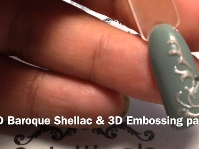 Nail art 3d embossing part 2 CND Baroque