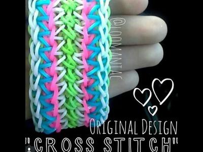 New! Cross Stitch Bracelet on Rainbow Loom