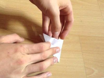 Origami Frosch selber basteln - Papier Frosch falten