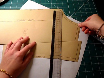 Pattern Cutting Tutorial: How To Adjust The Pattern For Sloped or Square Shoulders