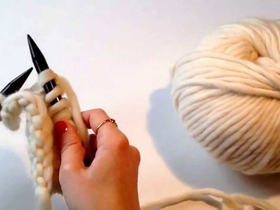 Punto de jersey. Como tejer punto de jersey con dos agujas. Knit and purl stitch. How to knit.
