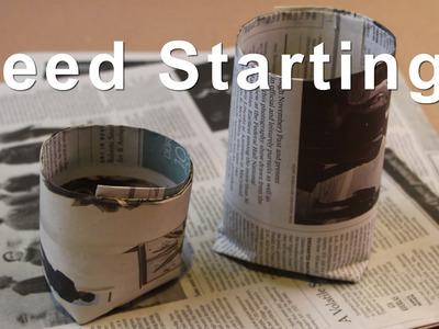 Seed Starting Paper Pots - DIY GardenFork.TV