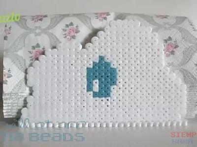 Servilletero Hama Beads.