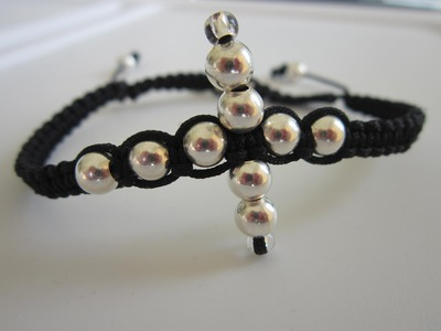 Shamballa Bracelet with Metal Beads . Шамбала Браслет . Tutorial . Как сделать браслет .