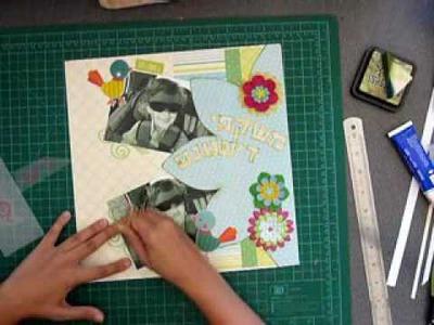 Summer Shades Scrapbook layout process