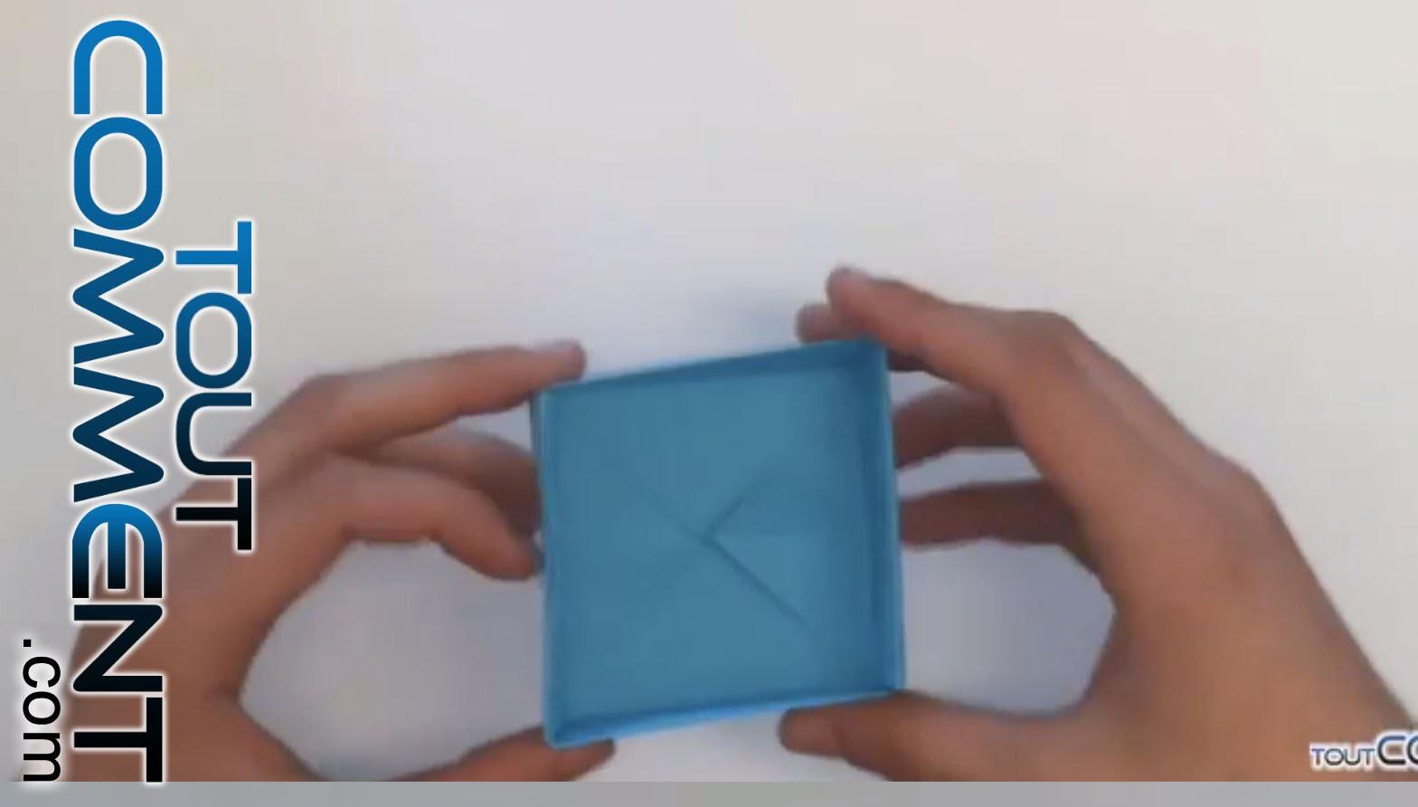 tuto origami bo te en papier. Black Bedroom Furniture Sets. Home Design Ideas