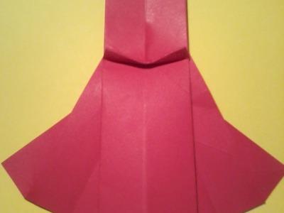 Tuto origami: la robe