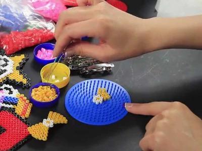 Video Tutorial Molletta per capelli Fermacapelli Hama Beads Fiocchetto Giallo Pyssla FULL HD ITA