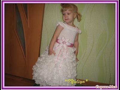 Вязаные платья для дочек. Beautiful crochet dresses for girls