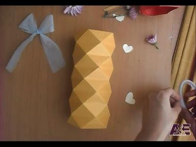 3D Origami Vase Tutorial #2 - Origami Home Decoration